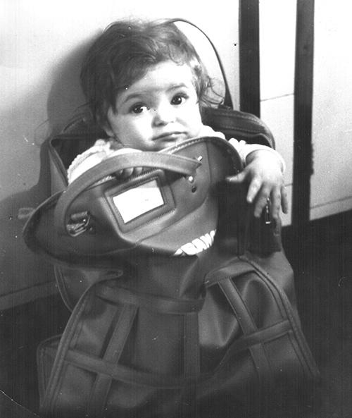 Хилда Казасян като дете